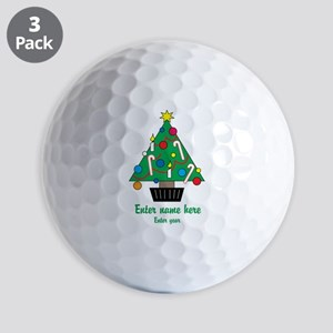 Personalized Christmas Tree Golf Balls
