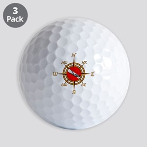 Dive Compass Golf Ball