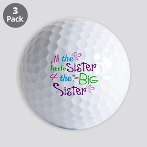 Im a littl and big sister Golf Ball