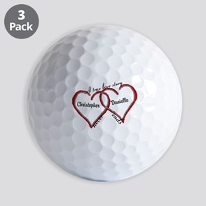 A true love story: personalize Golf Ball