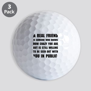 Real Friend Crazy Golf Ball