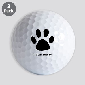 Paw Print Template Golf Ball