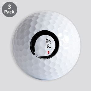 Enso Open Circle with Kanji for Bitch Golf Balls