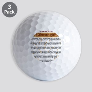 Gilmore Life Lessons square Golf Balls
