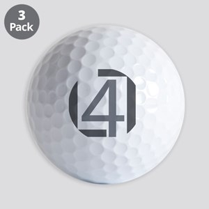 line 4 line logo grey Golf Balls