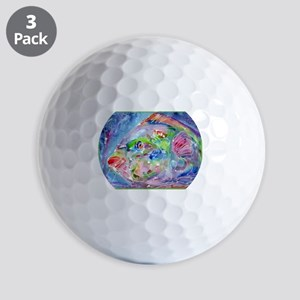 Tropical Fish! Colorful art! Golf Balls