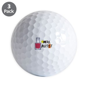 Nail Polish Golf Balls Cafepress