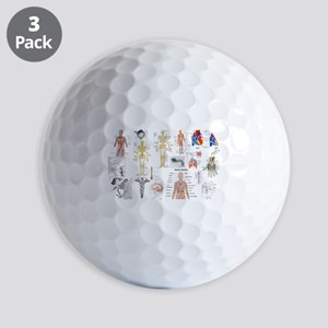 Human Anatomy Charts Golf Ball