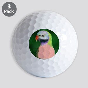 Moustached Parakeet Golf Balls