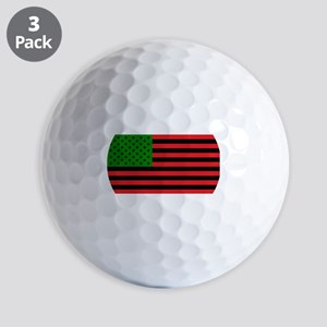 African American Flag - Red Black and G Golf Balls