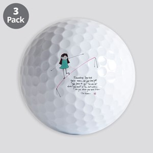 Its a Balancing Act Golf Balls