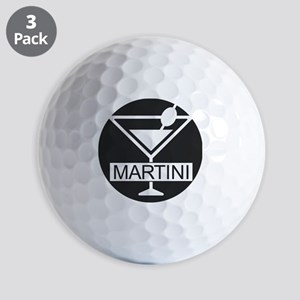 Martini - Black Golf Balls