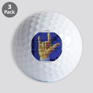 love_you_stamp Golf Balls