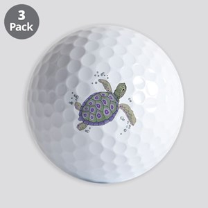 Swimming Sea Turtle Golf Balls