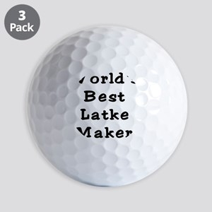 Worlds Best Latke Maker Black Golf Balls