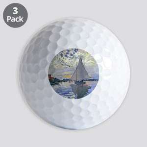 Claude Monet Sailboat Golf Balls
