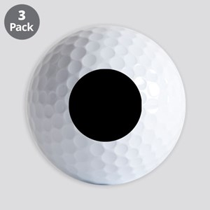 Simply Black Solid Color Golf Balls