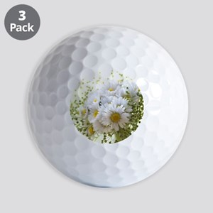 Bouquet of daisies in LOVE Golf Balls