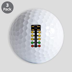 Drag Racing Christmas Tree Golf Ball