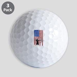 USA Flag Team Archery Golf Balls