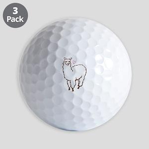 Cute Alpaca Golf Balls