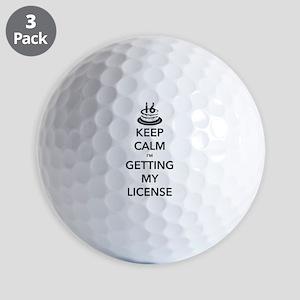 Keep Calm Sweet 16 Golf Balls