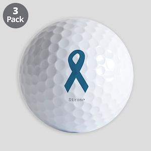 Strong. Teal Ribbon Golf Balls