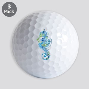 Fancy Seahorse Golf Ball