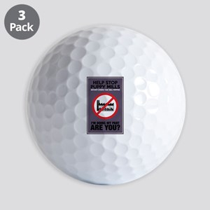 Stop Puppy Mills Golf Balls