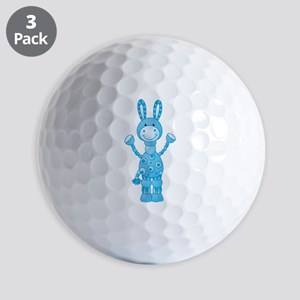 Blue Donkey Golf Ball
