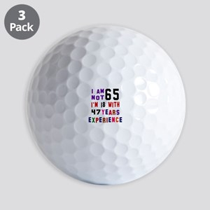 65 Birthday Designs Golf Balls