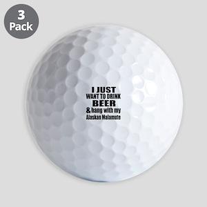 Hang With My Alaskan Malamute Golf Balls