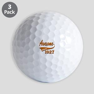 Awesome Since 1927 Birthday Designs Golf Balls