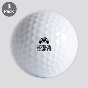 Level 16 Complete Birthday Designs Golf Balls