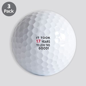 It Took 17 Birthday Designs Golf Balls