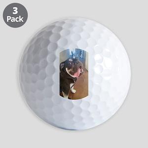 Happy! Chuck the Old English Bulldog Golf Ball