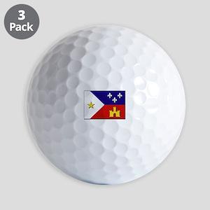 Flag of Acadiana Golf Balls