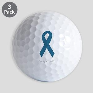Conquer All. Teal Ribbon Golf Balls