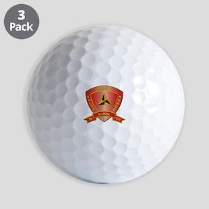 USMC - HQ Bn - 3rd Marine Division Golf Balls