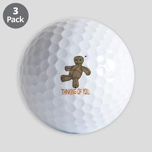 Voodoo Doll Golf Balls