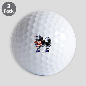 Alaskan Malamute Snowflake Golf Balls