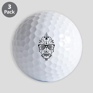 barbershop punk skull Golf Ball