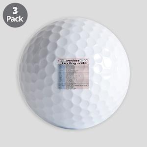 senior texting code Golf Balls