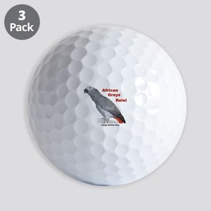 African Greys Rule! Golf Balls