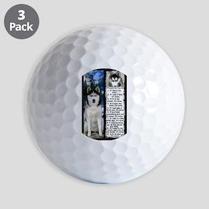 Siberian Husky Dog Laws Rules Golf Ball