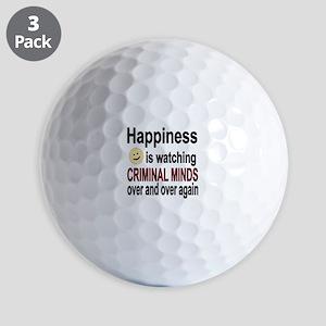 Happiness is watching CRIMINAL MINDS ov Golf Balls
