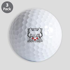 wolf princess Golf Balls