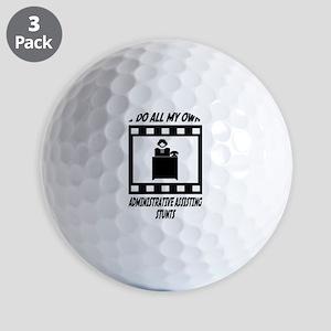 Administrative Assisting Stunts Golf Balls