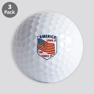 America Love it Golf Ball