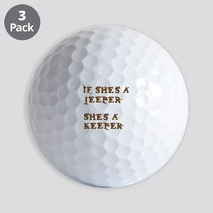 If She's a Jeeper Golf Balls